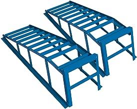 Cartrend 50156 Set de Rampas Extra Sólidas y Anchas, Fuerza 2 Toneladas, Ancho de Rueda hasta 225 mm