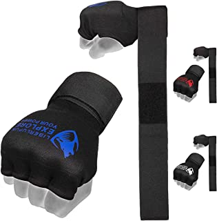 Liberlupus Boxing Quick Hand Wraps Inner Gloves for Boxing Gloves, Handwraps with Hand & Wrist Support for Boxing Kickboxing Muay Thai MMA
