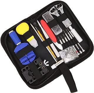 147 PCS Watch Repair Tool Kit Case Professional Watch Battery Replacement Tool Repairing Quartz/Mechanical Wrist Watch