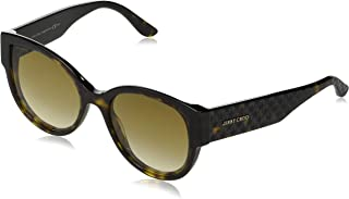 Jimmy Choo Wayfarer Sunglasses For Women - Brown Lens, Pollie/S 086Ha, 140 mm