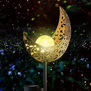 Solar Lights Outdoor Garden Decor - Garden Solar Lights Moon Lamp for Patio/Pathway/Lawn/Yard Decorations 1 in a Box (Warm...