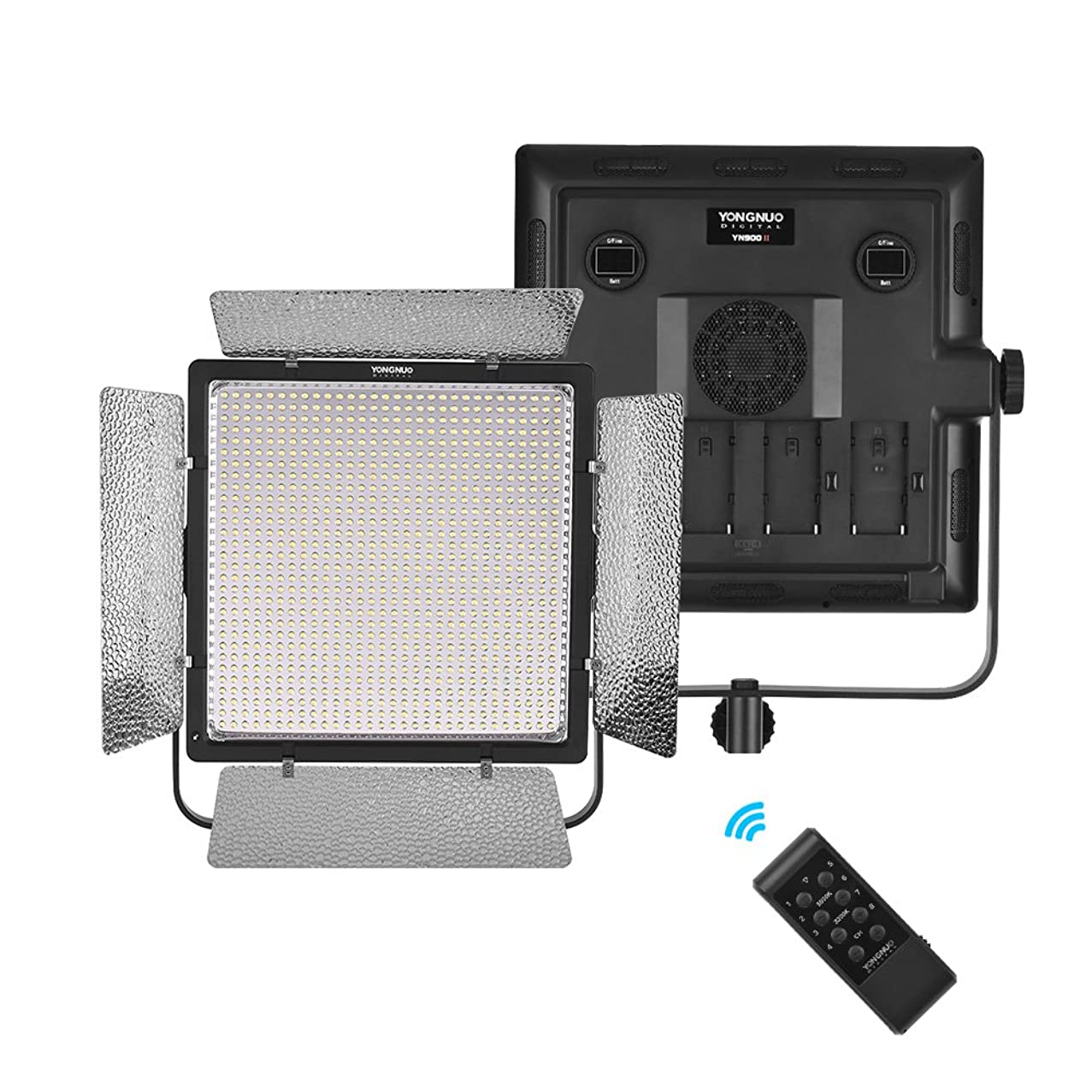 YONGNUO YN900II Professional 5500K Mono-Color LED Video Light Fill Light with Remote Control Adjustable Power 54W CRI 95+ for Micro Film MV Recording Wedding Interview and Product Photography