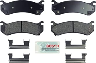 Bosch BE785H Blue Disc Brake Pad Set with Hardware for Select Cadillac, Chevrolet, GMC, and Hummer Trucks, Vans, and SUVs - FRONT & REAR
