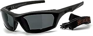 HELLY®   No.1 Bikereyes® | Motorradbrille, Multifunktionsbrille, Bikerbrille | beschlagfrei, winddicht | HLT® Kunststoff Sicherheitsglas nach DIN EN 166 | Bügel & Band wechselbar| Brille: i stealth