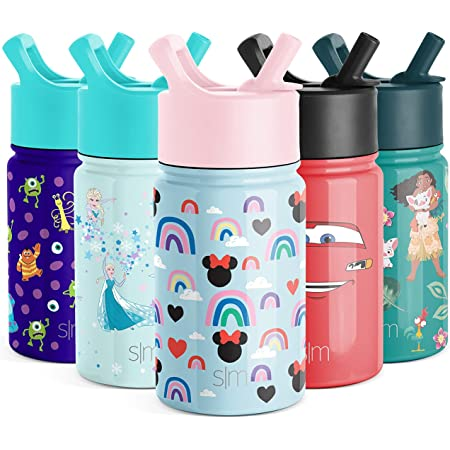 Simple Modern 14oz Summit Kids Water Bottle Thermos with Straw Lid Dishwasher Safe Vacuum Insulated Double Wall Tumbler Travel Cup 18//8 Stainless Steel Ice Cream Cones
