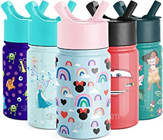 Simple Modern 10oz Disney Summit Kids Water Bottle Thermos with Straw Lid - Dishwasher Safe Vacuum Insulated Double Wall T...