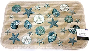 Mainstays Coastal Starfish Seashell Kitchen rug door mat