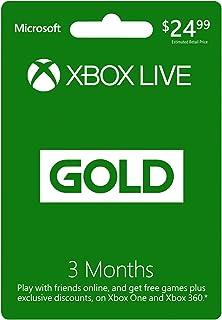 Xbox Live Gold: 3 Month Membership [Digital Code]
