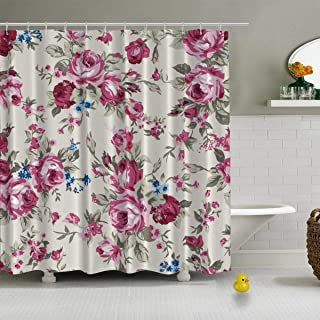 Shabby Chic Granny Chic Vintage Chintz Vector Shower Curtains Fabric Shower Curtain,jeffcyb37216o,72''W x84''H