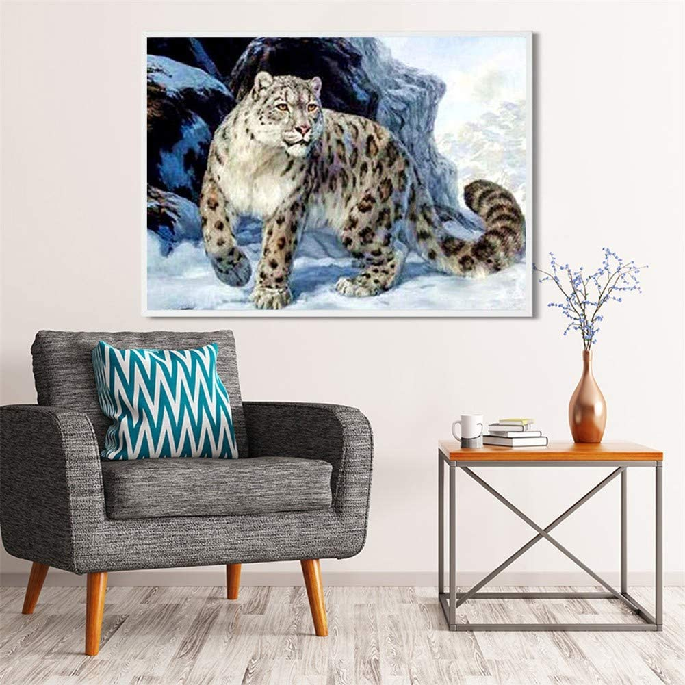 DIY 5D Diamond Painting by cheap Surprise price Number Leopard Drill Full Snow Kits