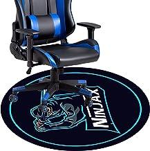 Cartoon Swivel Chair Mat for Hardwood Floor, Round Floor Mats for Computer Desk Gaming Chair, Anime Pattern Anti-Slip Floo...