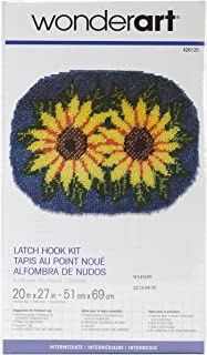 Spinrite Wonderart Latch Hook Kit, 20 by 27-Inch, Sunflower