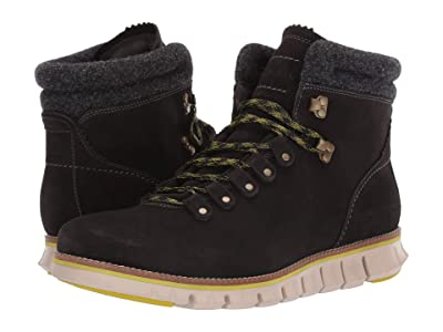 Cole Haan Zerogrand Hiker WP (Waterproof Midnight Grey Suede/Wool/Brazilian Sand) Men