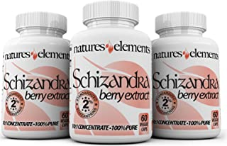 Schizandra Berry Extract - Pack of 3 - Liver Support and Stress Aid - Standardized 10:1 Extract - Free Gift with 3 Bottle Purchase! - 500mg Veggie Caps - 1 Month Supply