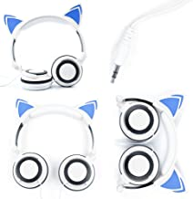 DURAGADGET Cat Headphones with Light Up Ears (in White) Compatible with VTech Innotab 3, VTech Innotab 3S