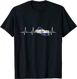 I'm American My Heart Beats for El Salvador Heartbeat tShirt