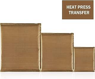 AQUEENLY Teflon Pillow for Heat Press, 3 Sizes Heat Press Pillow Mat - Reusable Heat Resistant for Heat Press Digital Transfer, 15 x 12 Inch, 10 x 10 Inch, 5 x 5 Inch