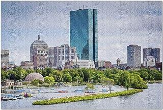 JYFJYNマサチューセッツ州ボストン-ロングフェロー橋からのチャールズ川とバックベイの眺め(大人向けのプレミアム500ピースジグソーパズル)