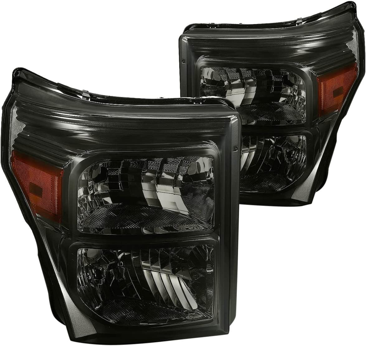 sold out DNA Motoring HL-OH-FSU13-SM-AM New product type Smoke Lens Headlights Repla Amber