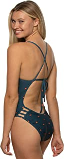 JOLYN Women's Tie-Back Gavin One-Piece Swimsuit Prints/Dawn