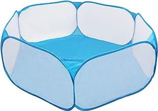 Coolty Domek dla małych zwierząt, składany namiot klatkowy dla małych zwierząt, przepuszczający powietrze, przezroczysty o...