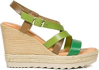 4ac02ce7d11 Zapatos Piel Mujer Hechos EN ESPAÑA. Sandalia Plataforma Mujer. Cuñas Mujer