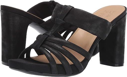 Black Shimmer Leather