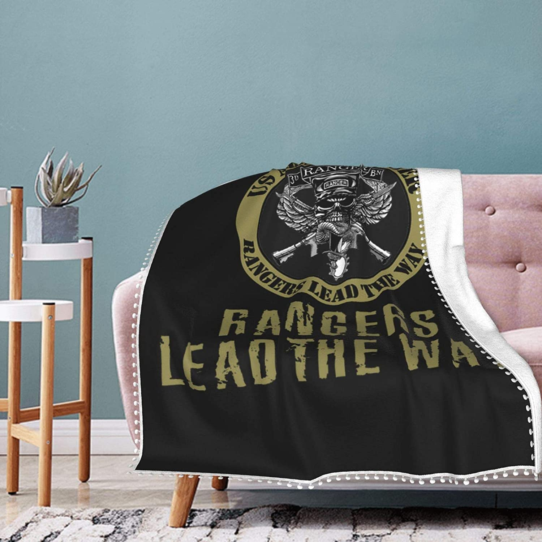 3651 Flannel Throw 着後レビューで 送料無料 数量限定 60'' X 50'' Us Lead Army Ranger Way The Fleec
