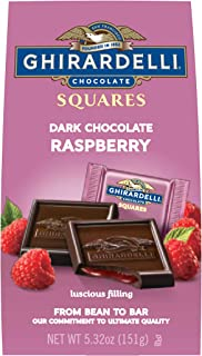 Ghirardelli Chocolate Squares, Dark and Raspberry Filled, 5.32 Ounce