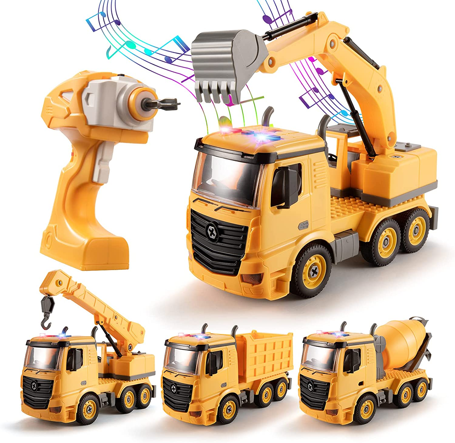 TEMI Take Apart Toys Construction Max 48% OFF High quality Truck - to Rem 4 in 1 Converts