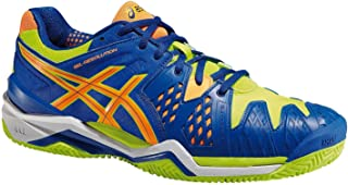 – Gel-Resolution 6 Clay, Zapatillas de Tenis para hombre (Azul/Amarillo)