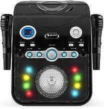 AUNA StarMaker – Chaîne karaoké, Fonction Bluetooth, Effet LED Multicolore,..