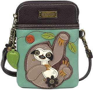 Chala Handbags Sloth Cellphone Crossbody Handbag - Convertible Strap Sloth Lovers, 5