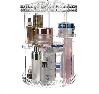Subobo Organisateur de produits cosmétiques - Rotation à 360 degrés - Transparente - Boîte de rangement tendance - Multifo...