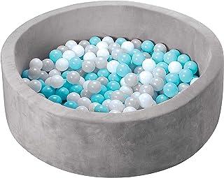 Nuby - Ballenbad grijs, blauw en turkoois - 200 ballen inbegrepen - Blauw - 10m+