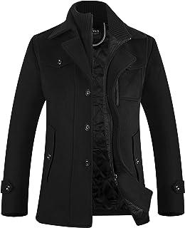 Sponsored Ad - APTRO Men's Winter Military Wool Pea Coat Windbreaker Quilted Lining Warm Single Breasted Stylish Jacket
