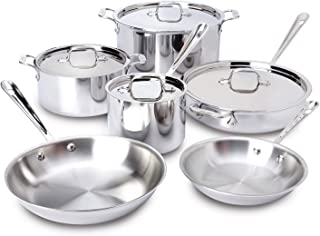 All-Clad Cookware Set 10-Piece Silver 401877