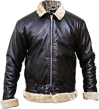 Tom Hardy Dunkirk Pilot Aviator Bomber Flying Sherling Fur Synthetic Leather Jacket, XXS-3XL