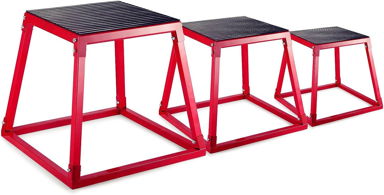 Popsport Popsport Plyometric Platform Box Set Fitness Exercise Jump Box Step Plyometric Box Jump for Exercise Fit Training (Set of 12'' 18'' 24'')