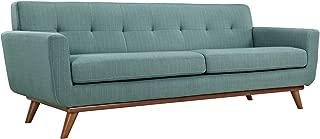 Modway Engage Mid-Century Modern Upholstered Fabric Sofa In Laguna