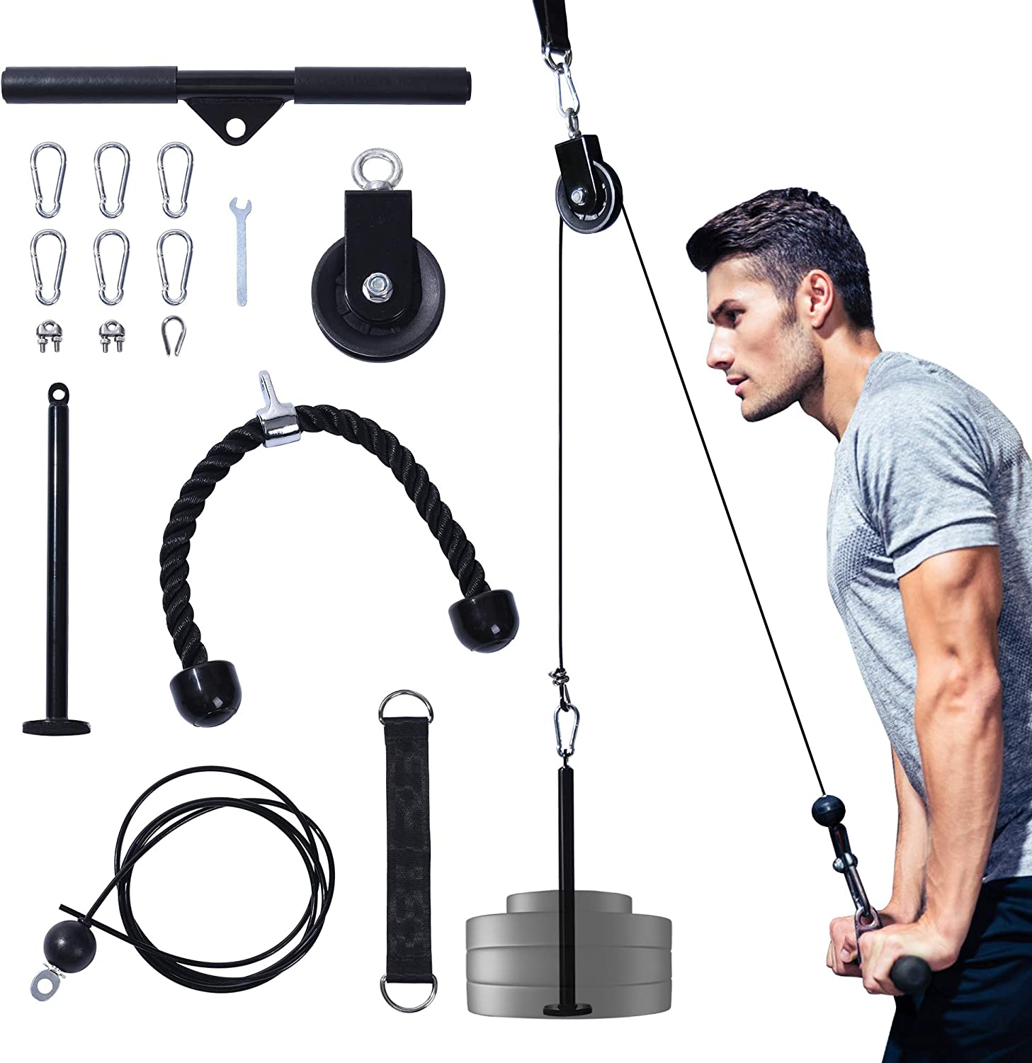 DEBOOB Upgraded LAT Pulldown Cable Pulley Attachments Set $30  Coupon