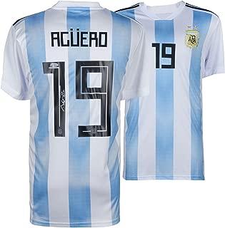 Sergio Aguero Argentina Autographed Adidas Jersey - Fanatics Authentic Certified - Autographed Soccer Jerseys