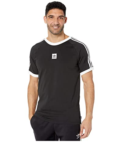 adidas Skateboarding Cali 2.0 Tee (Black/White) Men