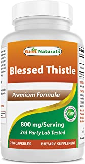 Best Naturals Blessed Thistle Breastfeeding Lactation Capsules - 800mg/Serving - 250 Count