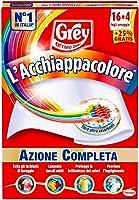 Grey L'Acchiappacolore Fogli Cattura Colore Lavatrice Evita Incidenti Lavaggio, Foglietti Acchiappacolore e Anti Sporco,...