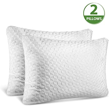 Firm Comfort Supreme Bamboo Shredded Bamboo Pillow w//Memory Foam Liner /& Washable Zipper Case Engineered for Maximum Sleep w//Premium Quality Ultra-Soft Bamboo Fabric King Size
