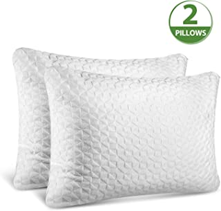 SORMAG Adjustable Shredded Memory Foam Pillows for Sleeping (2 Pack), Bamboo Cooling Bed Pillows Neck Support for Back, Stomach, Side Sleepers-King Size