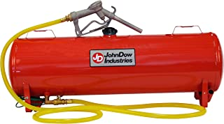 John Dow Industries JDI-FST15 15-Gallon Steel Portable Fuel Station, Gas Can Red