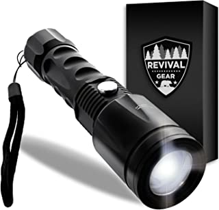 Tactical Flashlight: Best LED Outdoor Handheld Light Torch With ZOOMable Adjustable Focus Modes. Weather Resistant Portable & Durable Compact Ultra Bright Lumens On. For Men Boys Kids Military (Black)