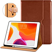 DTTO New iPad 7th Generation Case 10.2 Inch 2019, Premium Leather Business Folio Stand Cover with...